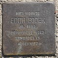 Stolperstein Bayreuther Str 38 (Schön) Edith Bodek.jpg