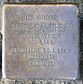 Stolperstein Dernburgstr 15 (Charl) Agnes Sandheim.jpg