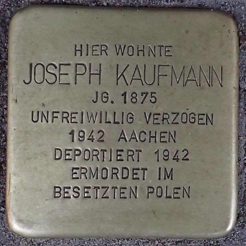 Stolperstein Heinsberg Hochstraße 38 Joseph Kaufmann