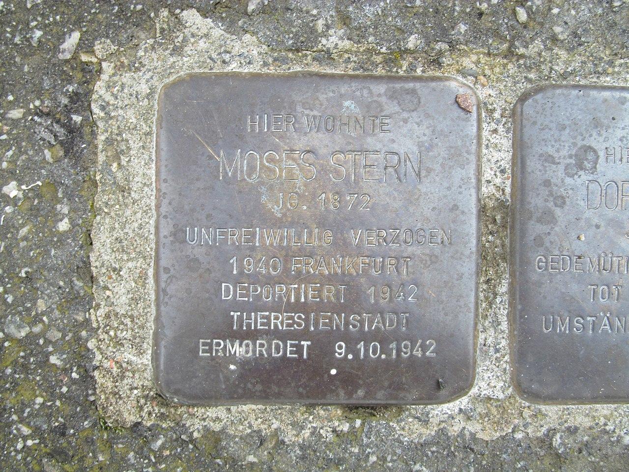 Stolperstein Moses Stern, 1, Lange Straße 14, Oberbrechen, Brechen, Landkreis Limburg-Weilburg.jpg