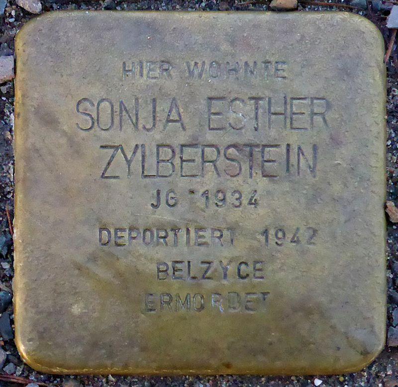 Stolperstein für Sonja Esther Zylberstein (Blumenauer Str. 5)