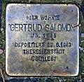Stolperstein Retzdorffpromenade 3 (Fried) Gertrud Salomon.jpg