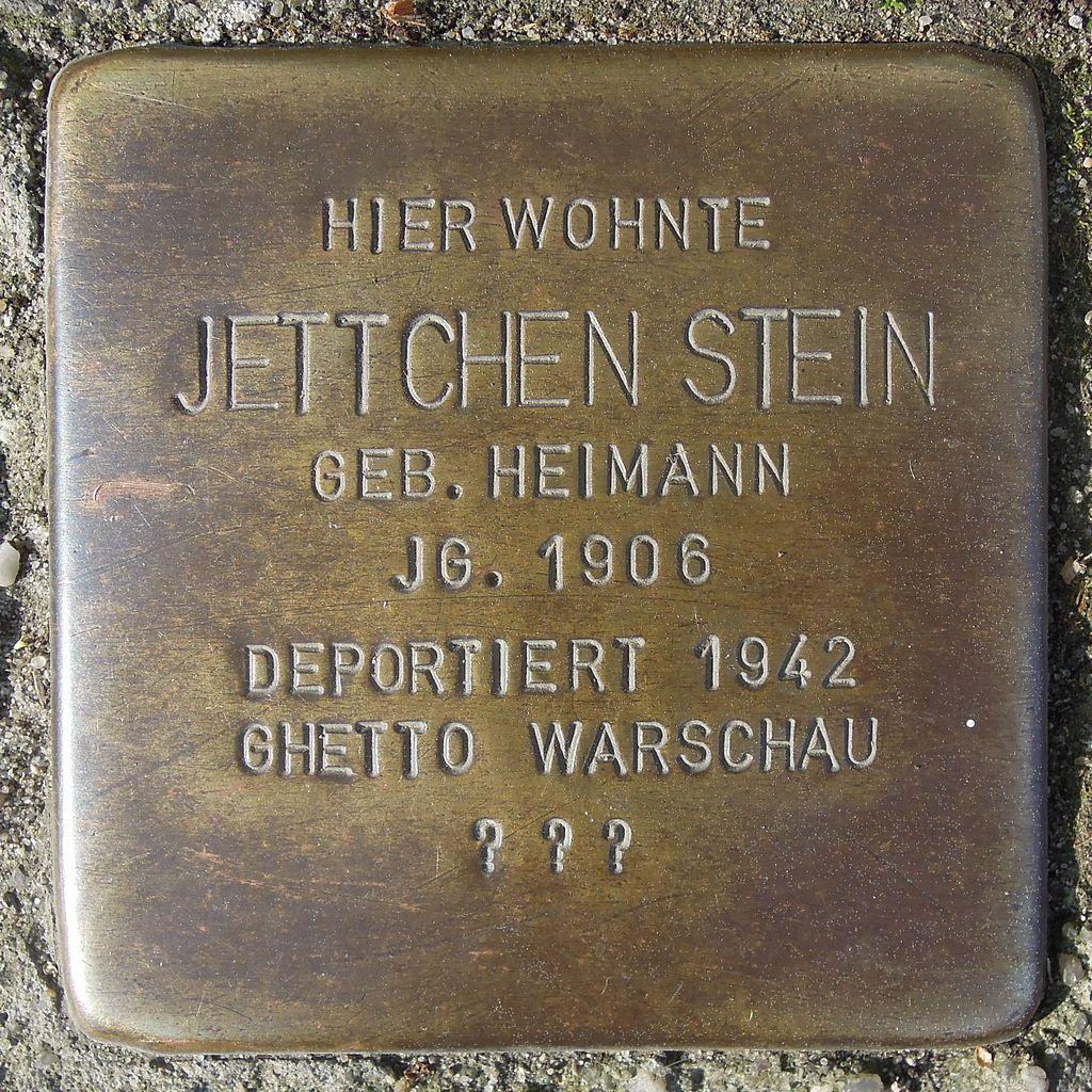 Stolperstein Salzwedel Neuperverstraße 64 Jettchen Stein