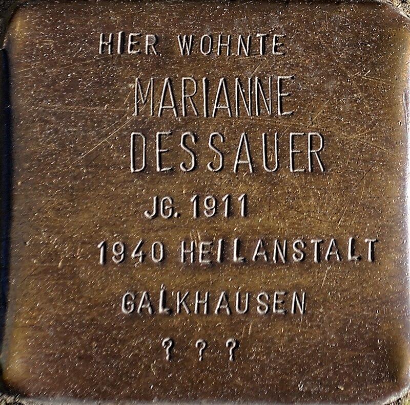 Stolperstein Solingen Klemens-Horn-Str. 6 Marianne Dessauer.jpg
