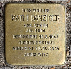 Photo of Kathi Danziger brass plaque