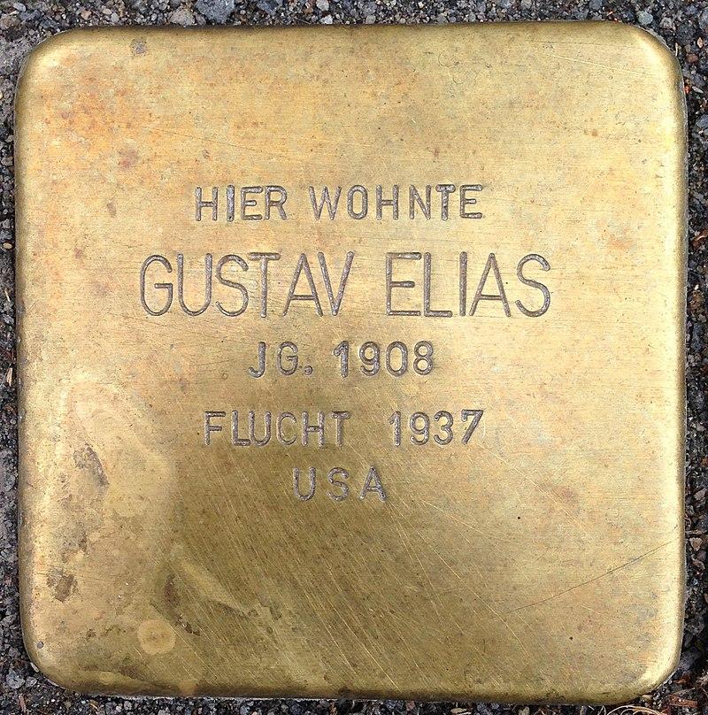 Stolperstein Waldbröl Querstraße 9 Gustav Elias