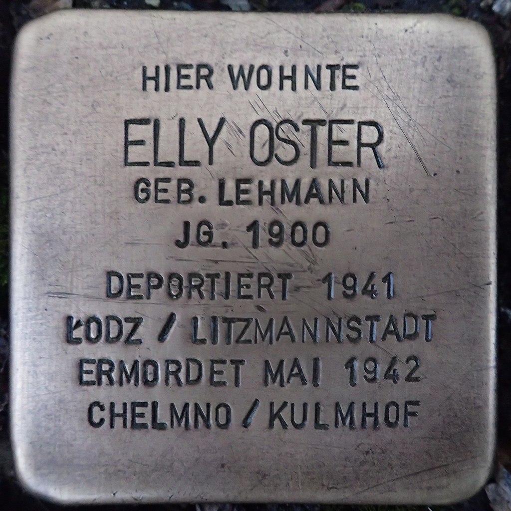 Stolperstein für Elly Oster