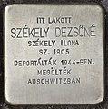 Stolperstein für Dezsöne Szekely (Nyíregyháza).jpg