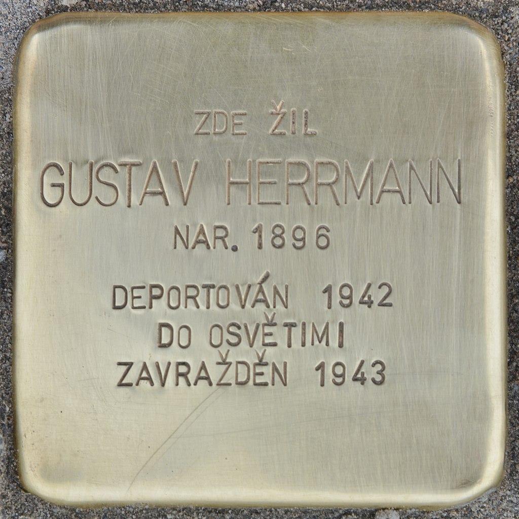 Stolperstein für Gustav Herrmann (Slatiňany).jpg