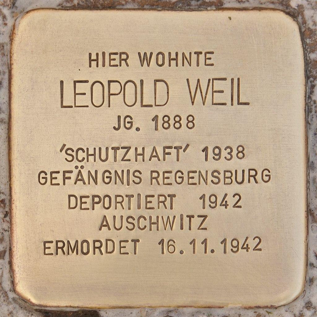 Stolperstein für Leopold Weil (Mühlhausen in der Oberpfalz).jpg
