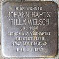 Stumbling stone for Johann Baptist 'Tilla' Welsch (Schnurgasse 64)
