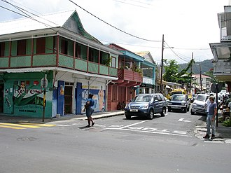 Economy of Dominica - Commercial street in Roseau.