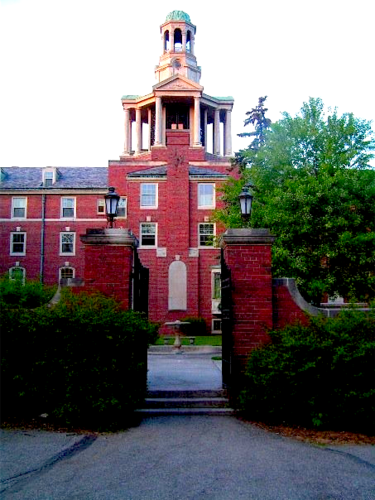 Stuyvesant Hall, built in 1930, is the oldest residence in use on West Campus. A $14 million, donor-funded renovation of the facility was completed in September 2012. StuyFront.png
