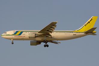 Sudan Airways - A Sudan Airways Airbus A300B4-600R at Dubai International Airport in 2006.