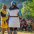 Sudija koji u duelu obavestava borce o pravilima.jpg