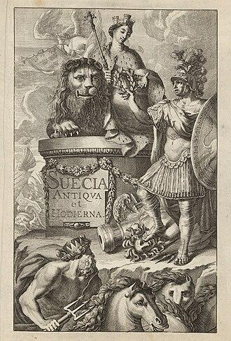 1716 in Sweden - Title page of Suecia Antiqua et Hodierna