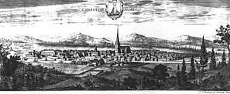 Kristinehamn - Kristinehamn in 1700, in the work Suecia antiqua et hodierna.