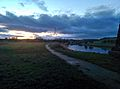 Sun Setting over the River Weaver - panoramio.jpg