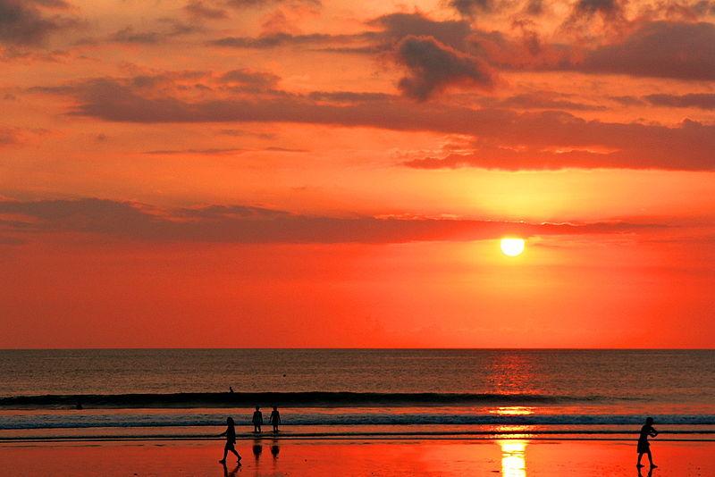 File:Sunset on Kuta Beach, Bali.jpg