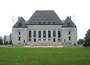 The Supreme Court of Canada in Ottawa, west of Parliament Hill.