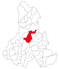 Location of Suseni, Harghita