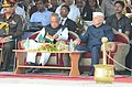 Sushilkumar Shinde and the Home Minister of Bangladesh, Dr. Muhiuddin Khan Alamgir at the Joint Retreat Ceremony of Border Security Force and the Border Guard Bangladesh at Petrapole-Benapole, 24 Parganas (North).jpg