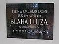 Svájci-lak, Blaha Lujza emléktábla, 2017 Sóstógyógyfürdő.jpg