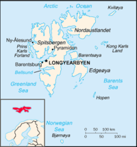 Location of Longyearbyen