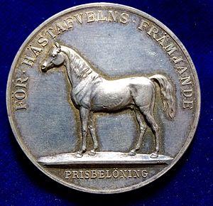 Lea Ahlborn - Sweden's Horse Award Silver Medal, engraved by Lea Ahlborn.