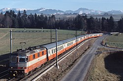 Swiss Express in 1985 van de SBB