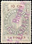 Switzerland Lucerne 1902 revenue 6 10c - 90 - E 5 02.jpg