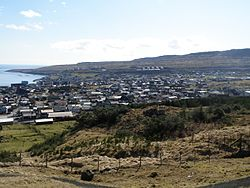 Tórshavn and Argir, Faroe Islands in April 2010.JPG