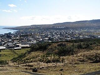Argir Village in Faroe Islands, Kingdom of Denmark