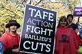 TAFE Action - TAFE teachers and students rally outside Premier Baillieu's office.jpg