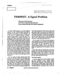TEMPEST: A Signal Problem