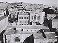 THE ARMENIAN QUARTER IN JERUSALEM.TOP RIGHT CORNER-THE DOMES OF THE HURVA AND TIFERET ISRAEL SYNAGOGUES. הרובע הארמני בירושלים.D826-017.jpg