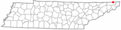 Location of Bristol, Tennessee