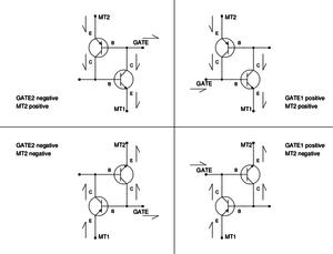 TRIAC - Image: TRIAC Equivalent Circuit