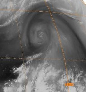 Cold-core low - Image of an upper tropospheric cyclonic vortex in the western North Pacific, a cold-core low