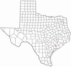 Louise, Texas - Image: TX Map doton Louise