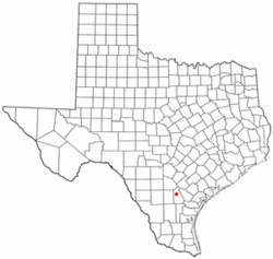 Location of Three Rivers, Texas