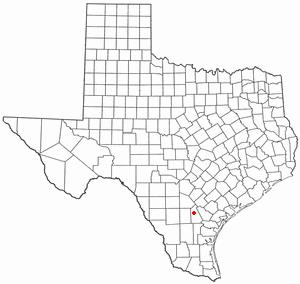 Three Rivers, Texas - Image: TX Map doton Three Rivers