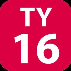 Kikuna Station - Image: TY 16 station number