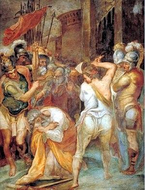 Frangipani family - Taddeo Zuccari, Beheading of Saint Paul, 1558–1559, in the Frangipani Chapel of San Marcello al Corso in Rome