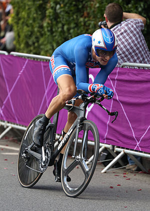Taylor Phinney - Phinney competing in the 2012 Olympics time trial in London