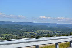 Looking northwest from Interstate 99 on Bald Eagle Mountain