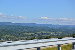 Taylor Township, Centre County, Pennsylvania - Looking northwest from Interstate 99 on Bald Eagle Mountain
