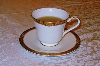 Saucer - A teacup on a saucer
