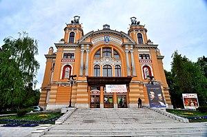Teatrul National din Cluj cu afise