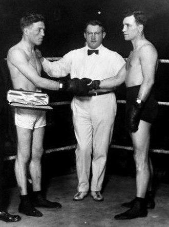 """Ted """"Kid"""" Lewis - Lewis (left), shaking hands with arch-rival Jack Britton"""